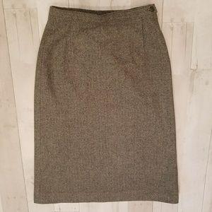 Vintage PENDLETON Wool Herrington tweed midi skirt